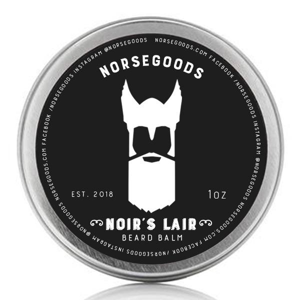 Norsegoods noirs lair beard balm